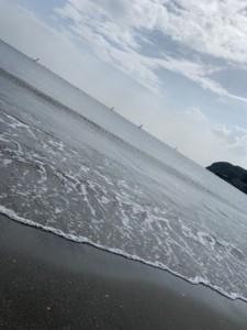 今年初海行ってきました!!